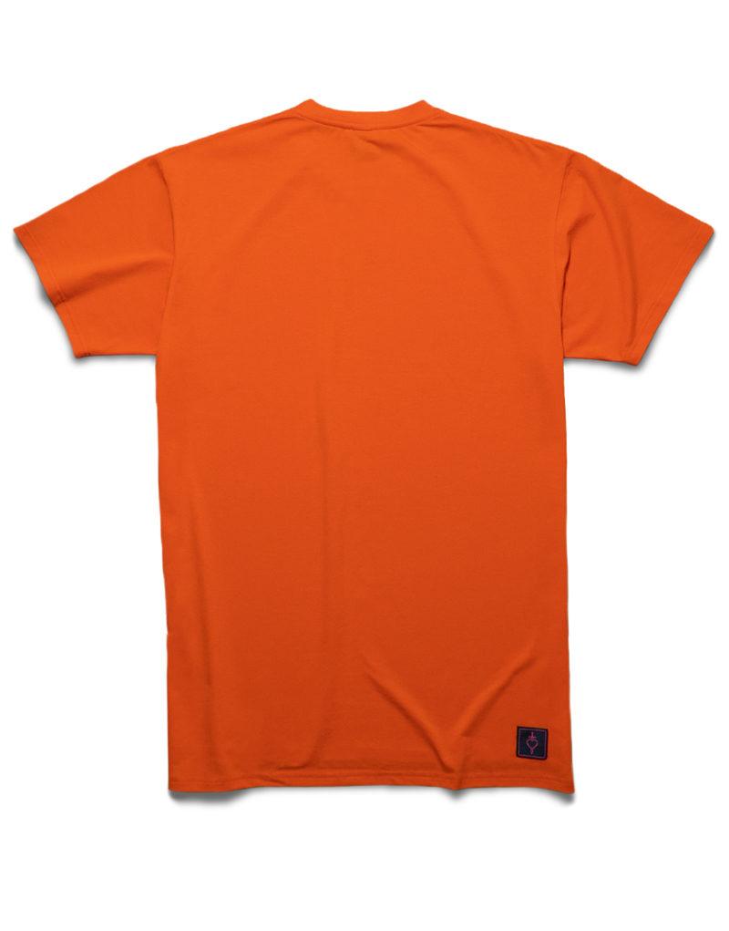 Футболка оранжевая с рефлективным принтом